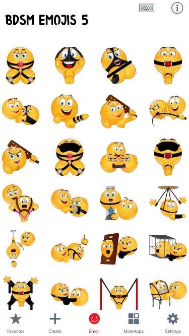 BDSM 5 Emoji Stickers