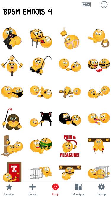 BDSM 4 Emoji Stickers