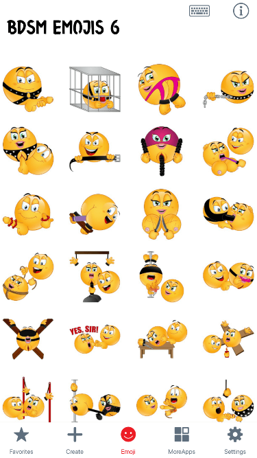 BDSM 6 Emoji Stickers