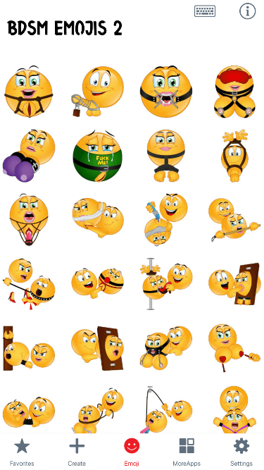 BDSM 2 Emoji Stickers