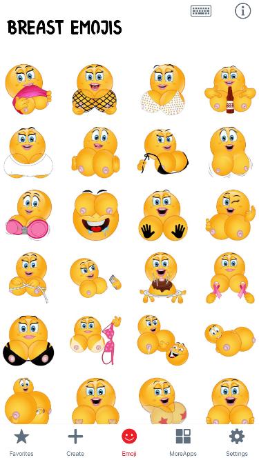 Breast Emoji Stickers