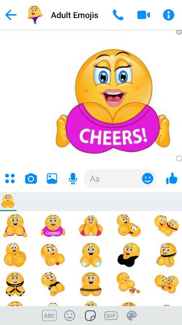 Breast 2 Emoji Keyboard
