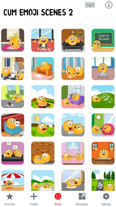 Cum Scenes 2 Emoji Stickers