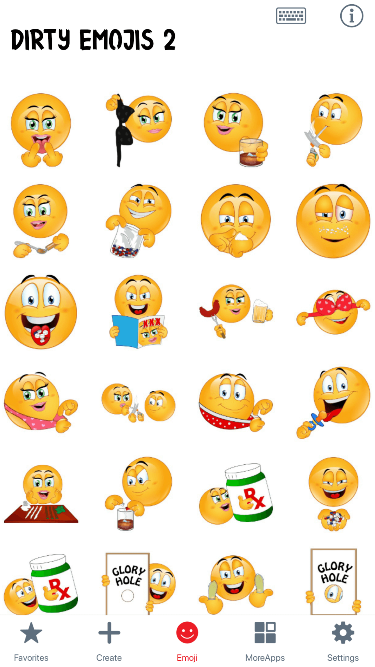 Dirty 2 Emoji Stickers