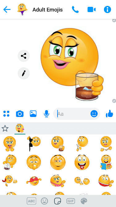 Dirty 2 Emoji Keyboard