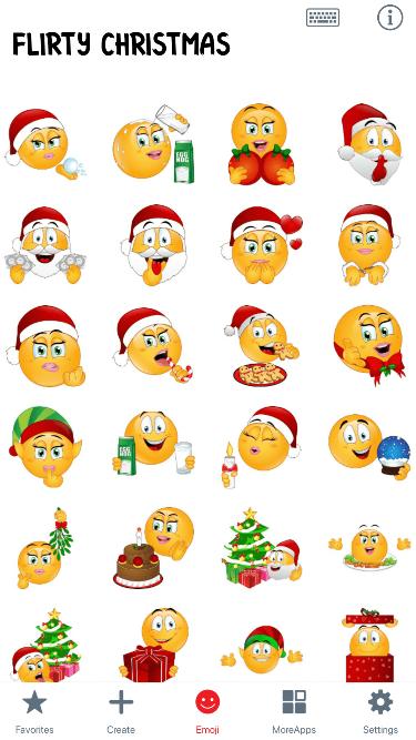 Flirty Christmas Emoji Stickers
