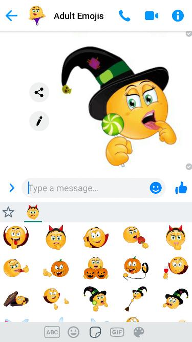 Flirty Halloween Emoji Keyboard