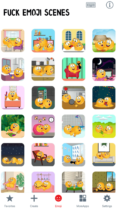 Fuck Scenes Emoji Stickers
