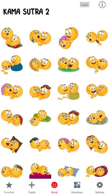 KamaSutra 2 Emoji Stickers