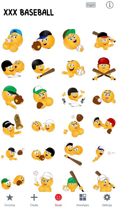 XXX Baseball Emoji Stickers
