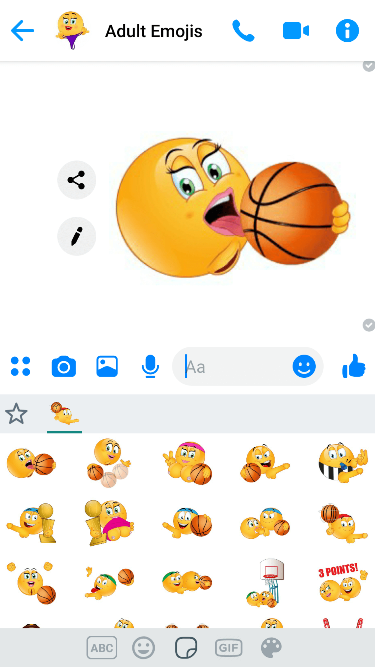 XXX Basketball Emoji Keyboard