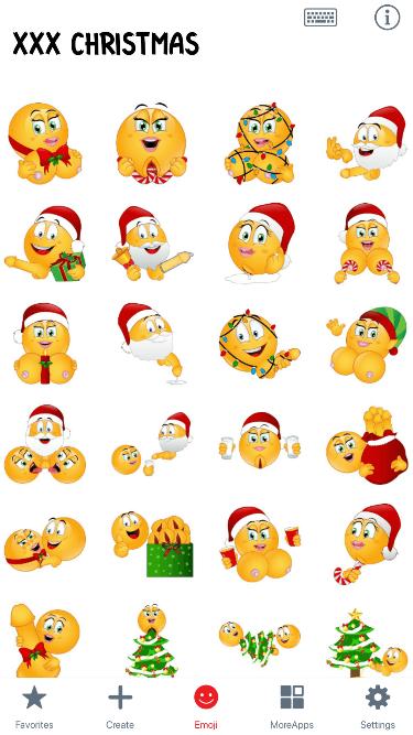 XXX Christmas 2 Emoji Stickers