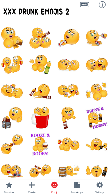 XXX Drunk 2 Emoji Stickers