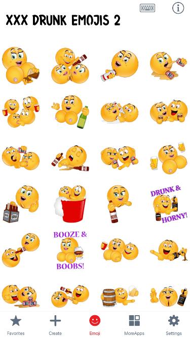 XXX Drunk 2 Emoji Stickers