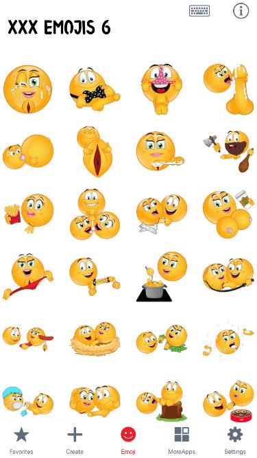 XXX 6 Emoji Stickers