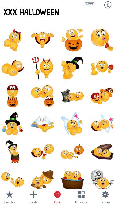 XXX Halloween Emoji Stickers