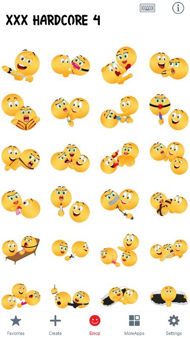XXX Hardcore 4 Emoji Stickers