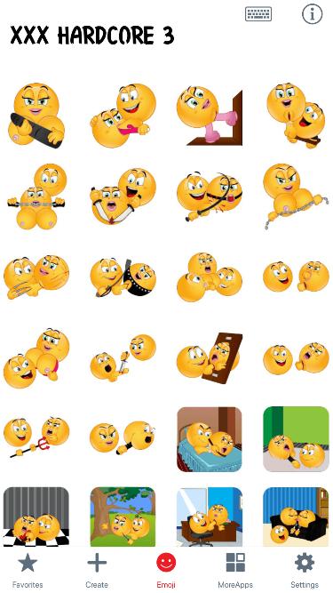 XXX Hardcore 3 Emoji Stickers
