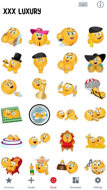 XXX Luxury Emoji Stickers