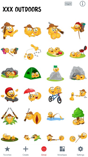 XXX Outdoors Emoji Stickers