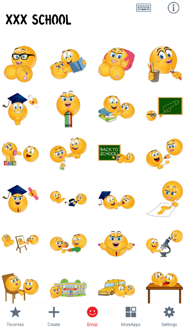 XXX School Emoji Stickers