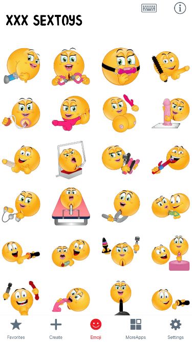 XXX SexToys Emoji Stickers