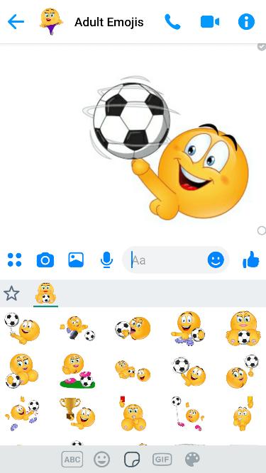 XXX Soccer Emoji Keyboard
