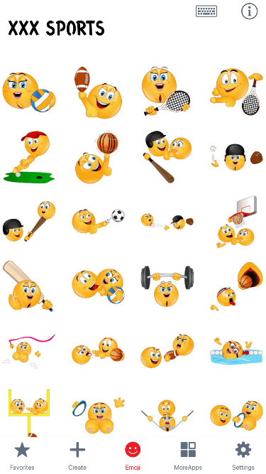 XXX Sports Emoji Stickers
