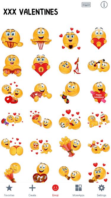 XXX Valentines Emoji Stickers